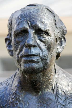 busts: Heinrich B�ll - a sculpture represents Heinrich Boell in Berlin