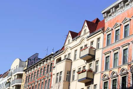 row houses: Case a schiera - Un mix di vecchi edifici ristrutturati e nuovi edifici Archivio Fotografico