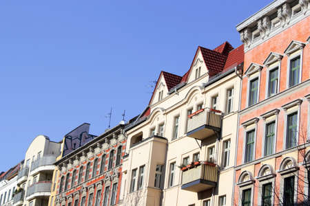 rehabilitated people: Row houses - a mix of renovated old buildings and new buildings