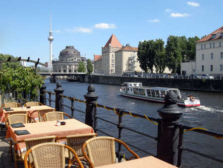 Picturesque view of the Spree Stock Photo