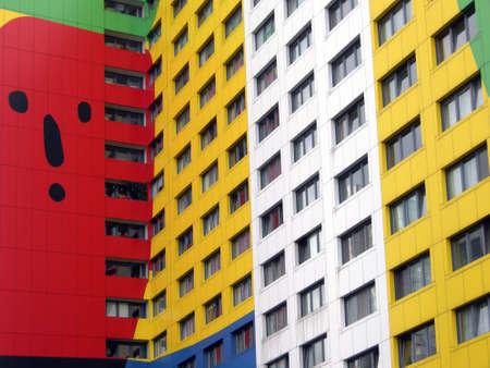 prefabricated buildings: Prefabricada de color en Berl�n, Alemania Foto de archivo