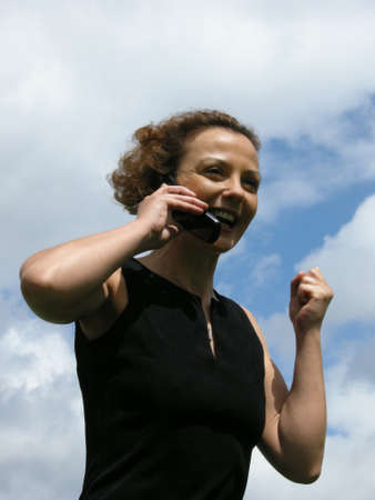 zest for life: Good News - Woman receives during the phone call good news