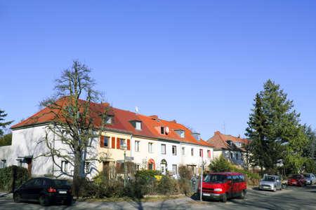 urban idyll: Housing estate in Berlin, Germany