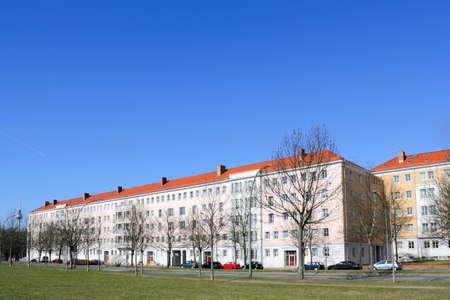 prefabricated buildings: Edificios renovados en Berl�n, Alemania Editorial