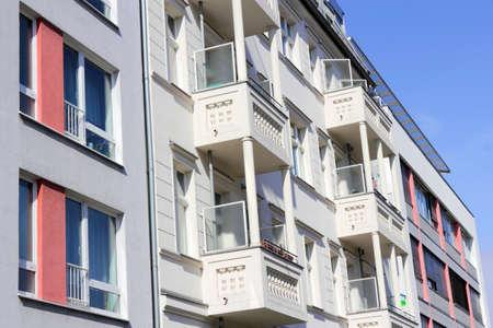 enhances: Renovated building facades