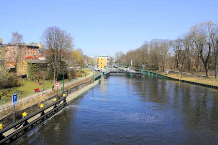 spandau: Lock in Berlin Spandau, Germany Stock Photo
