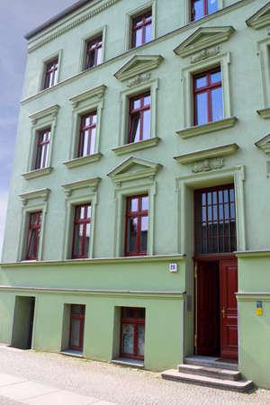 stucco facade: Casa ristrutturata