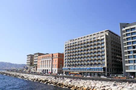 Stone beach in Naples, Italy Stock Photo - 11128212