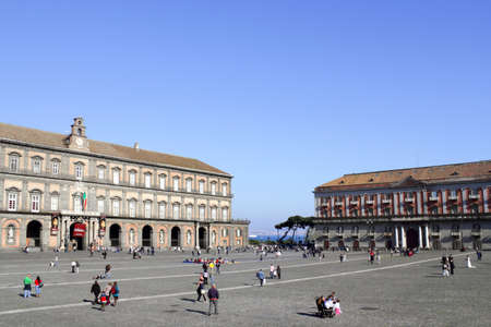 heritage protection: Piazza del Plebiscito in Naples, Italy Editorial