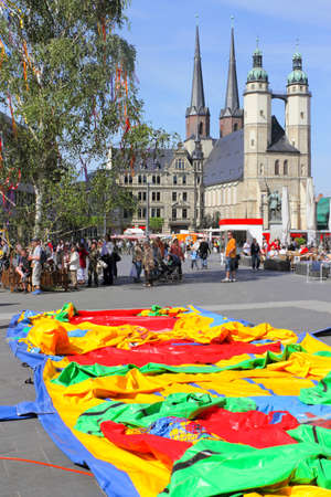 rubbery: Festival in Halle (Saale), Germany