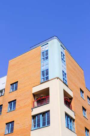 prefabricated buildings: Casa moderna en Halle (Saale), Alemania Editorial