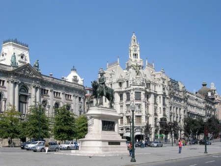Praca da Liberdade in Porto, Portugal Stock Photo - 11238552
