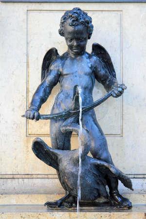 slayer: Hercules Fountain goose slayer in Augsburg, Germany Stock Photo
