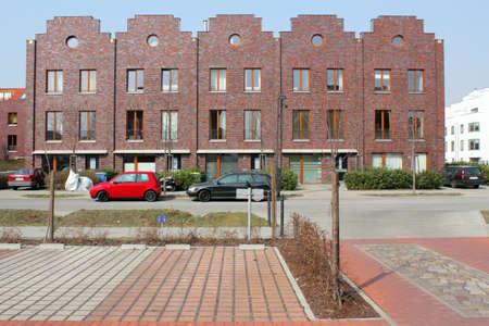 better living: Modern houses line in Berlin, Germany