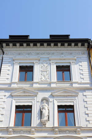 White stucco house in Passau, Germany Stock Photo - 11255470