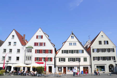 gable home renovation: Row of houses in Ulm, Germany