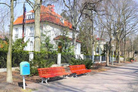 urban idyll: Berlin Grunewald in Germany Stock Photo
