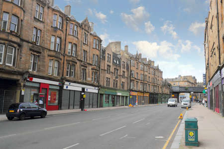 Glasgow shopping street in UK photo