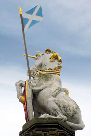 Unicorn with Scotland Flag photo