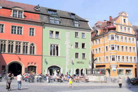 gable home renovation: Regensburg Cathedral Square Editorial