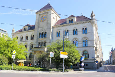 Old post office in Halle, Germany photo