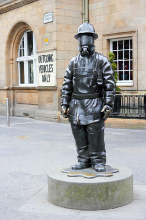 Firefighter in the Gordon Street Scotland photo