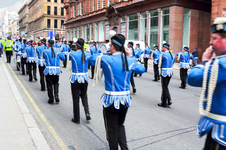 Music Parade in Glasgow, Scotland