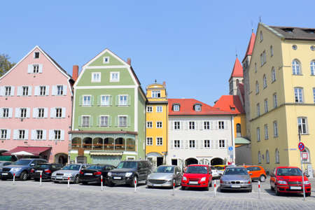 gable home renovation:  Regensburg   - a city on the Danube in central Bavaria Editorial