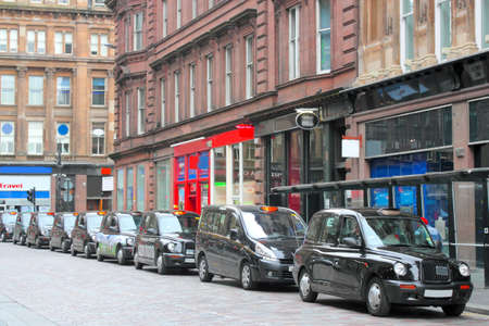 Glasgow taxi queue