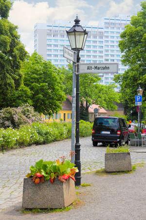 marzahn: Berlin Old Marzahn in Germany Editorial