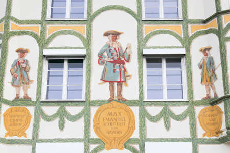 rehabilitated people: House facade in Bad Tolz