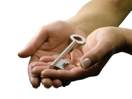 hold up: Keys handed over