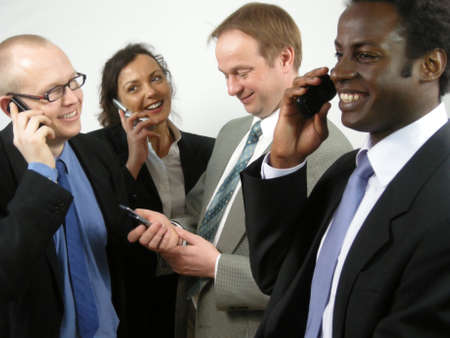 conference call: Conference Call Stock Photo