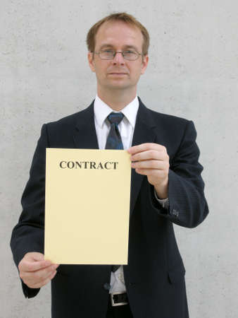 consciously: Contract offer Stock Photo