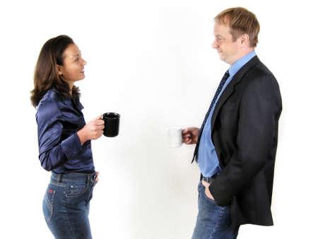 coffee meeting: Coffee break Stock Photo