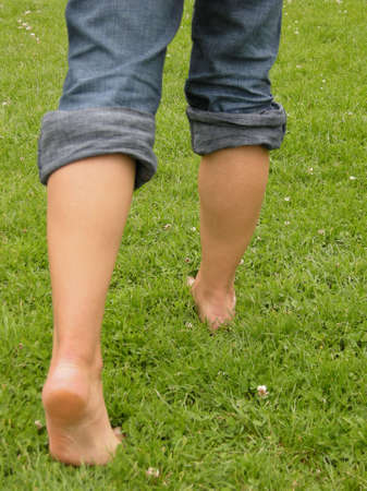 soles: Barefoot in the grass