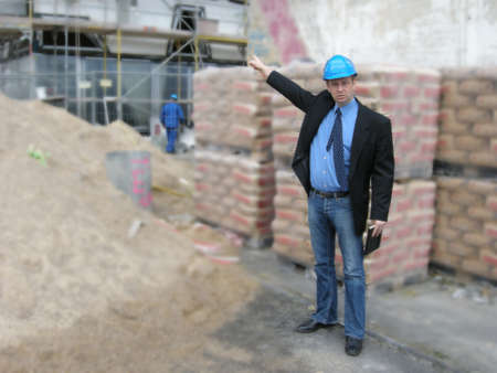 mensch: Site Manager Stock Photo