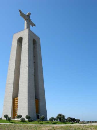 cristo: Monumento Cristo Rei Stock Photo