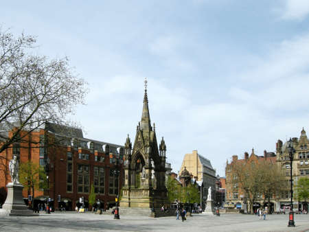 Town Hall Square in Manchester photo