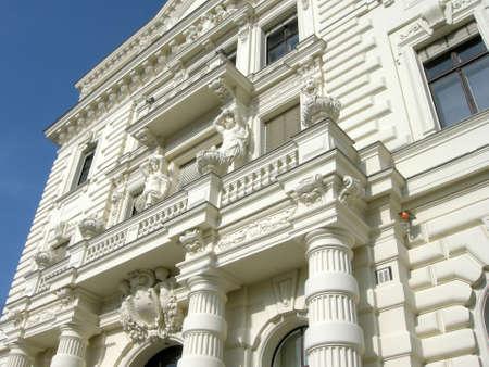 stucco facade: White stucco facade