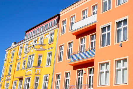 rentals: Colored row Stock Photo