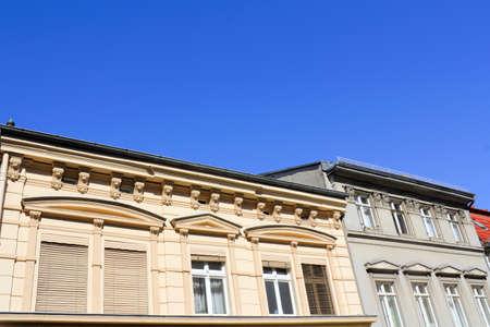 Old building facades photo