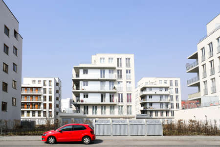 dormitories: Modern residential area Stock Photo