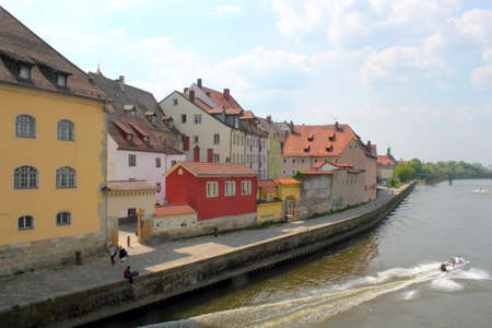 Regensburg Danube Bank photo