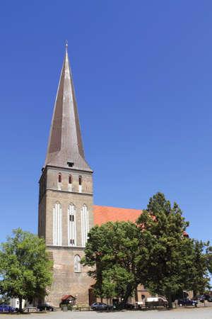 rostock: Rostock Petri Church Stock Photo