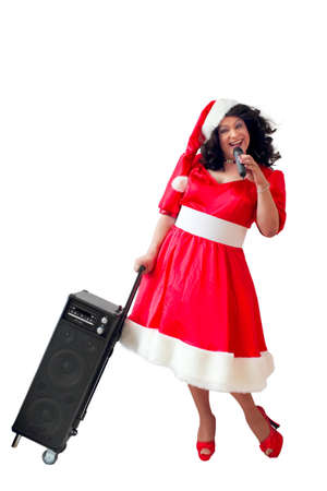 Singing Christmas Woman photo