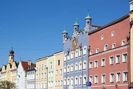 attics: Houses front in Burghausen