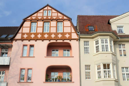 Half-timbered houses and Wilhelminian style Stock Photo - 12449868