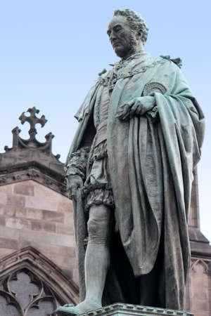 national poet: Walter Scott Monument Stock Photo