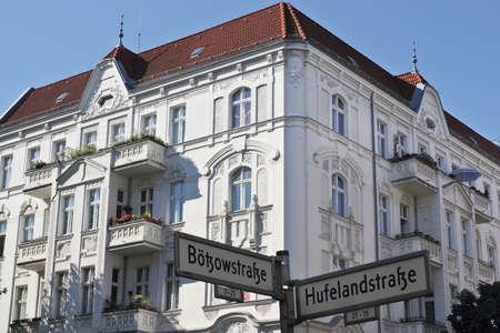 dormitories: Berlin Botzow Quarter Stock Photo
